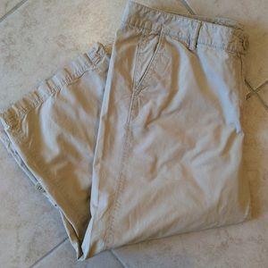 J. Jill Khaki Capri Pants Size 14